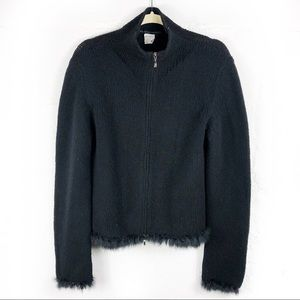 Lorena Antoniazzi Wool Black Cardigan Jacket